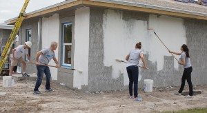 On Saturday, February 20, Shutts & Bowen attorneys and staff joined more than 2,000 volunteers and the Habitat for Humanity of Greater Miami for its annual Blitz Build, an accelerated construction event where 10 new homes are completed in two weeks for low-income partner families in the Perrine area of South Miami-Dade.