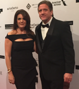 Partner Aliette Rodz and spouse at the BrazilFoundation Annual Gala.
