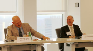 Magistrate Judge John O'Sullivan and Judge Stanford Blake shared candidly from their experiences on the bench at the Russian American Bar Association of South Florida's event.