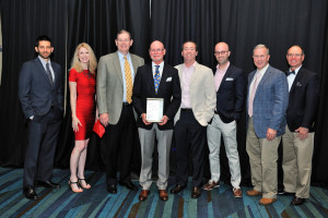 Adam Bregman, Patti Leonards, Hank Jackson, Art Menor, Matt Sackel, Matt Chait, Ed O'Sheehan and John Strickroot, Jr. received the Firm Award presented by the Legal Aid Society of Palm Beach County on Saturday, May 7.