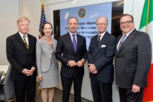 Italy's Ambassador to USA in Washington, DC Armando Varricchio on his first official visit to Miami as Ambassador.