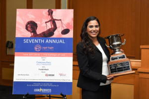 Victoria Madani, winner of the Legal Eagle Competition