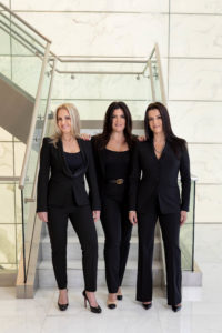 Miranda Lundeen Soto, Aliette DelPozo Rodz and Angela C. de Cespedes in the Miami office of Shutts & Bowen.