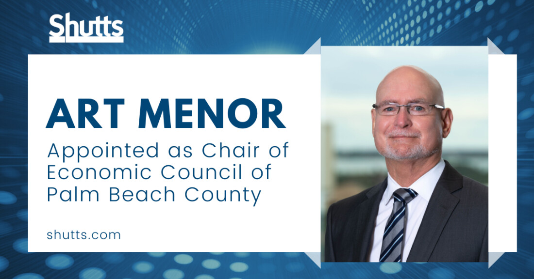 Art Menor Appointed as Chair for Economic Council