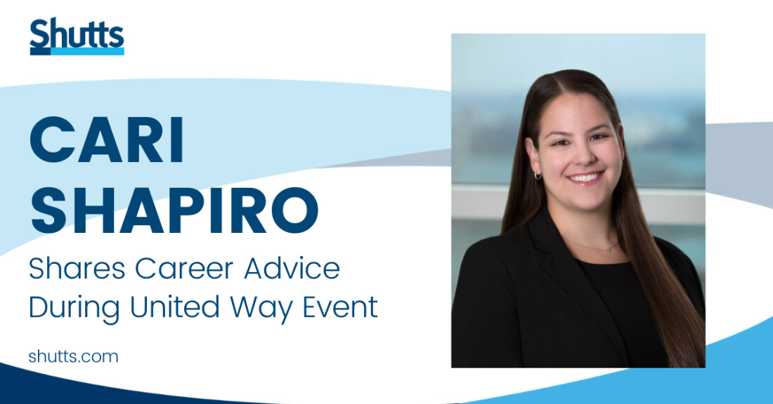 Cari Shapiro shares career advice during United Way event