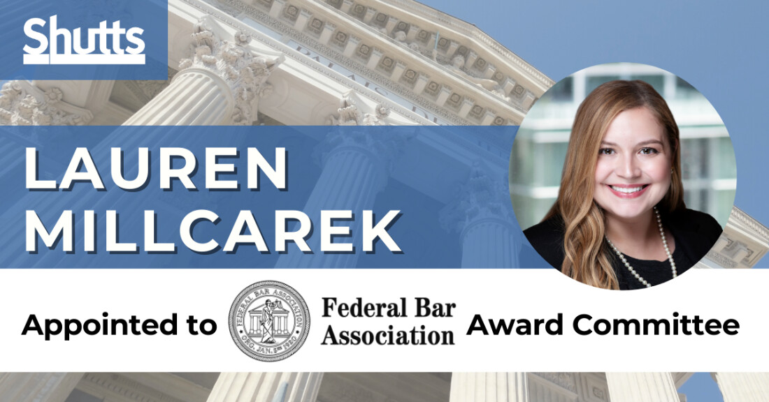 Lauren Millcarek Appointed to Federal Bar Association Award Committee