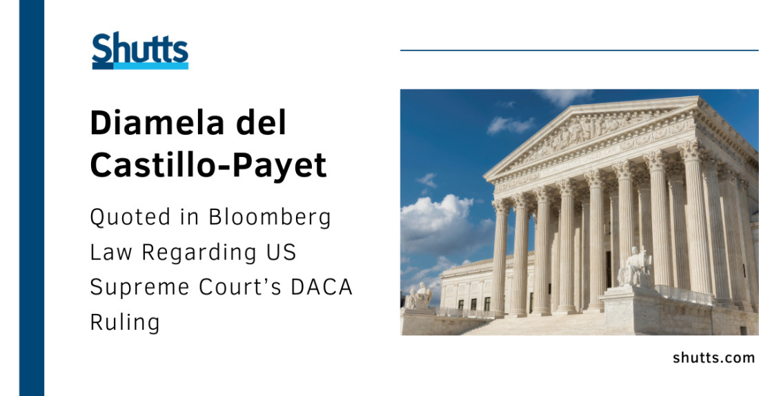 Diamela del Castillo-Payet Quoted by Bloomberg Law