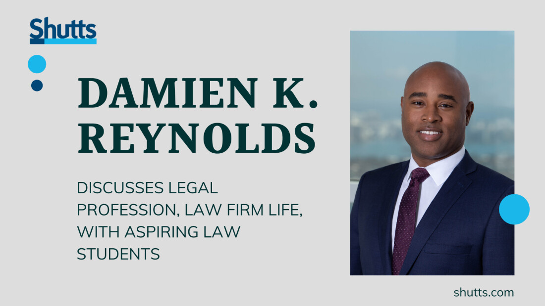 Damien Reynolds discusses law firm life with FIU Law students