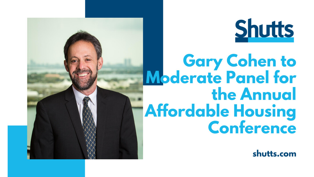 Gary Cohen to Moderate Panel at Affordable Housing Conference