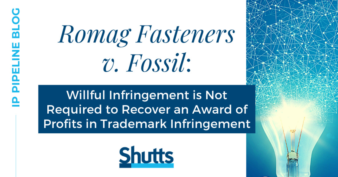 IP Blog - Romag Fasteners v. Fossil