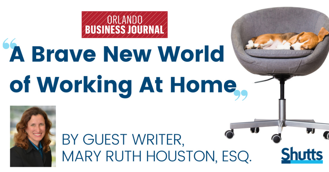 Mary Ruth Houston Discusses the Brave New World of Working at Home in OBJ