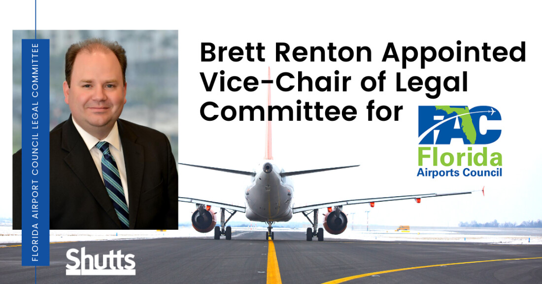 Brett Renton Appointed Vice-Chair of FAC Legal Committee