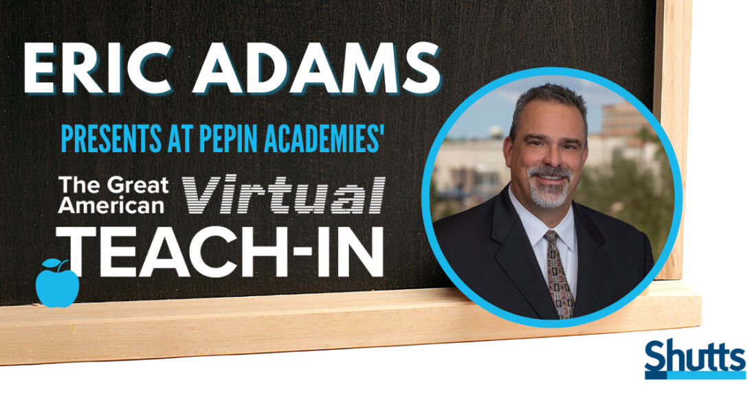 Eric Adams Presents at Pepin Academies' Great American Virtual Teach-In