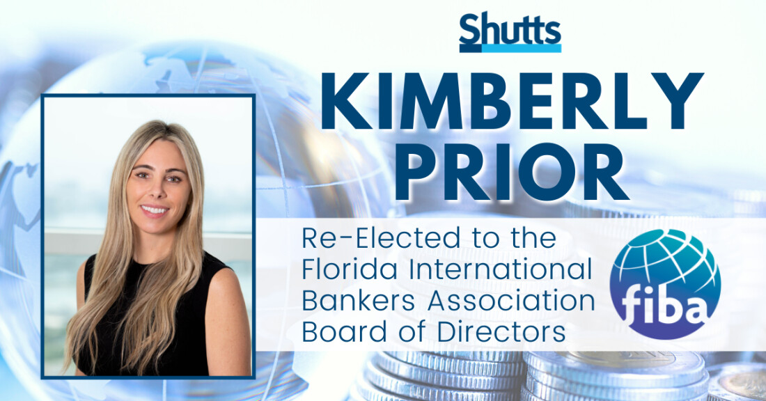 Kimberly Prior Re-Elected to the Florida International Bankers Association Board of Directors