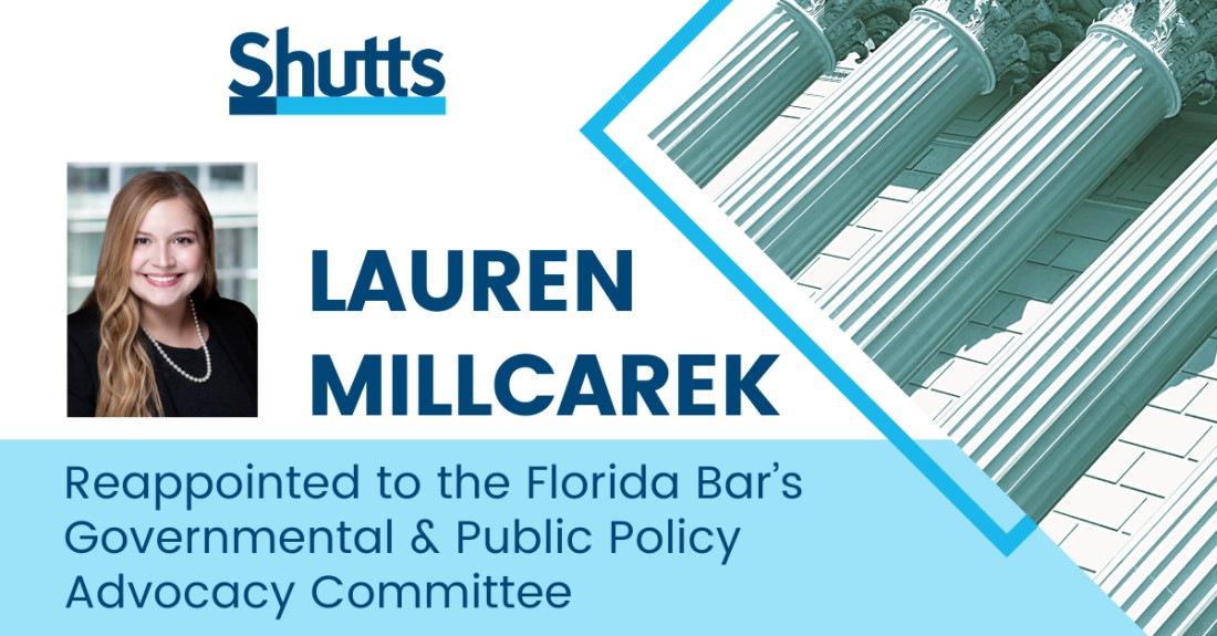 Lauren Millcarek Reappointed to the Florida Bar's Governmental and Public Policy Advocacy Committee