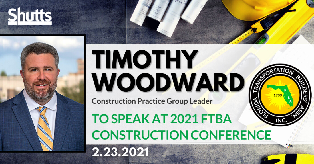 Timothy Woodward to Present at the 2021 Florida Transportation Builder's Association Conference