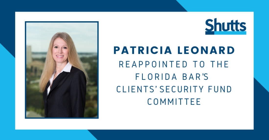 Patti Leonard reappointed to Florida Bar's Clients' Security Fund Committee
