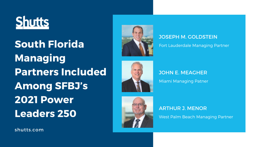 South Florida OMPs included among SFBJ's 2021 Power Leaders 250