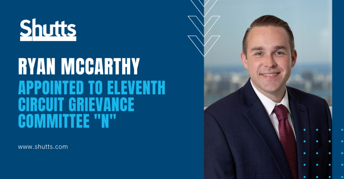 Ryan McCarthy - Grievance Committee Appointment
