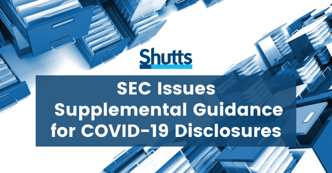 SEC Issues Supplemental Guidance for COVID-19 Disclosures