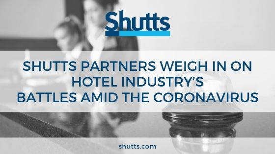 Meagher and Tachmes interviewed by Law360 on hospitality industry