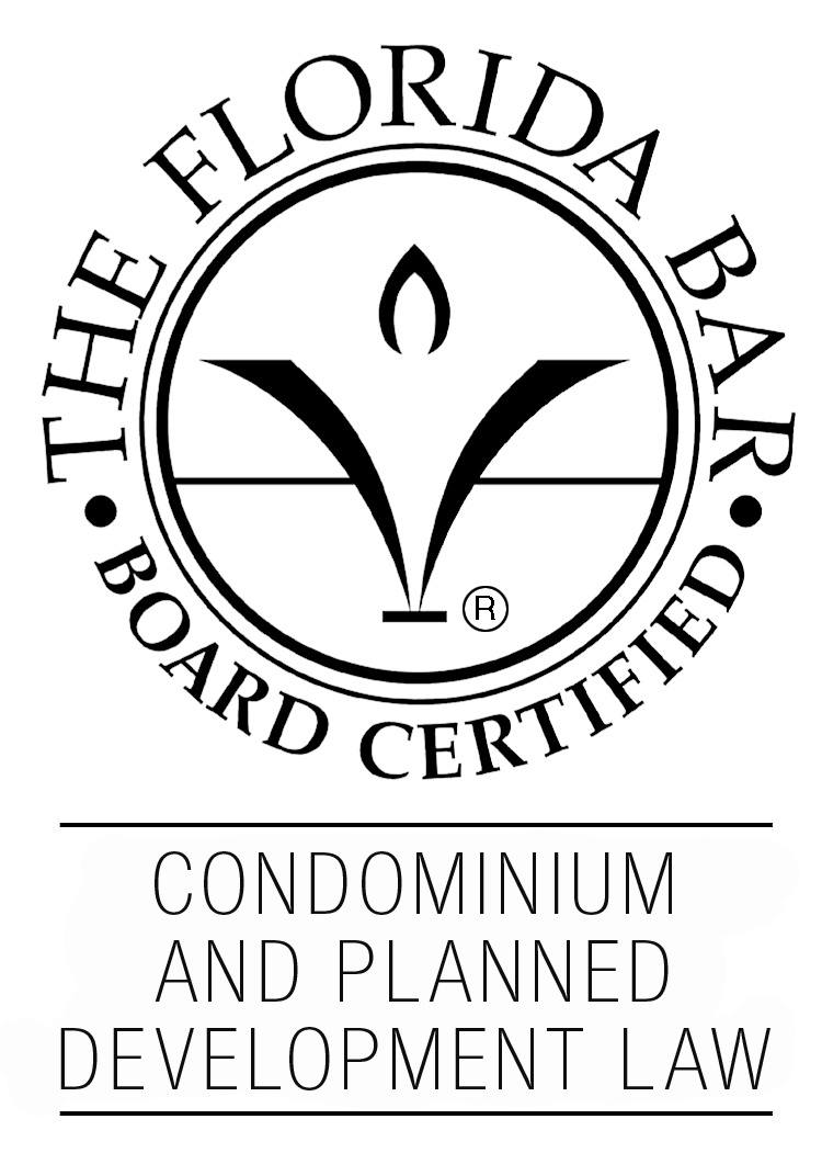 Florida Bar Board Certified in Condominium & Planned Development Law